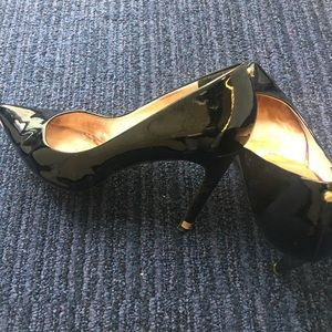 Pair Ted Baker London Black Patent Leather Pumps
